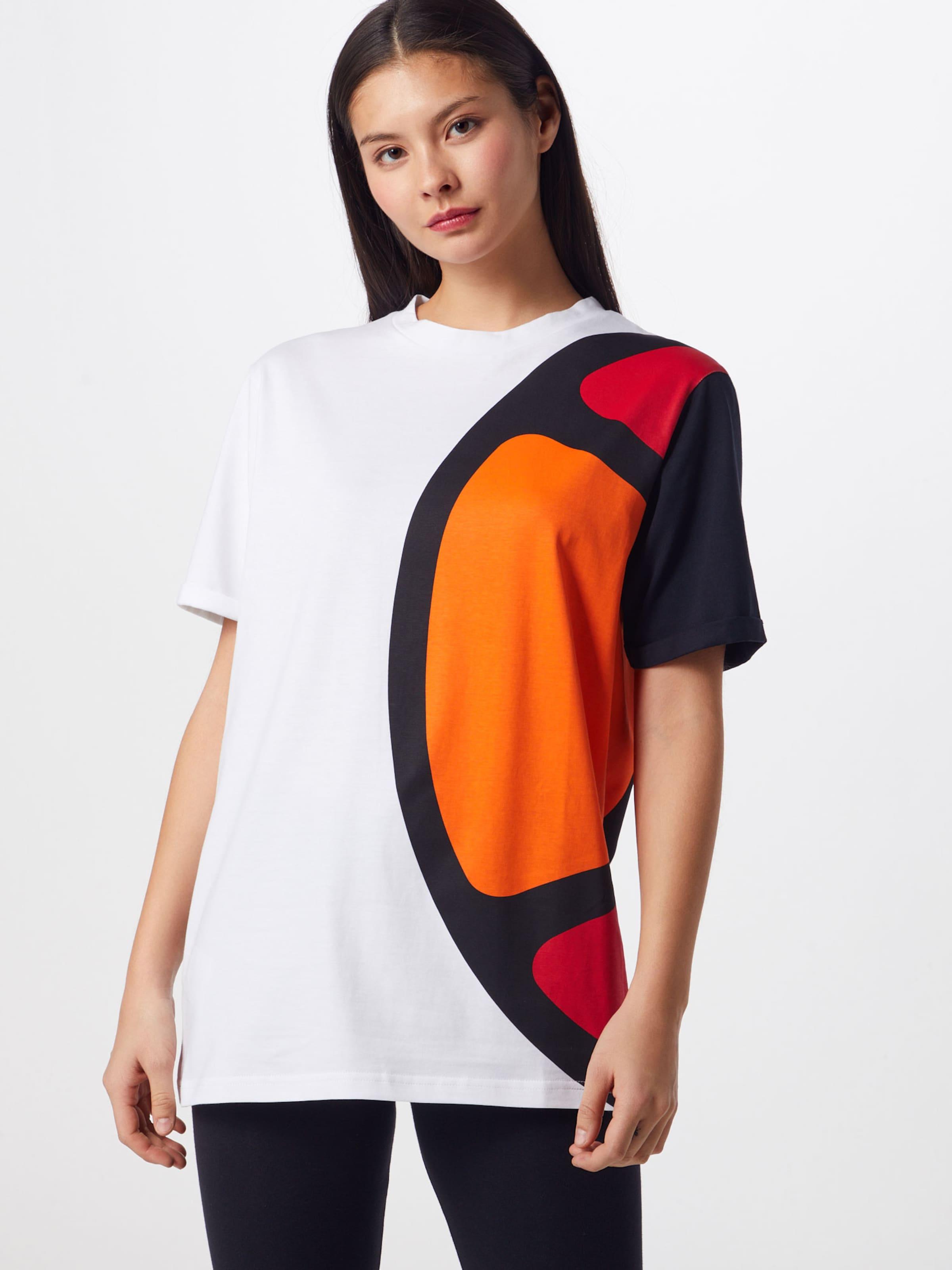 shirt 'melina' Blanc Noir Ellesse OrangeRouge T En 6vYfgIb7y
