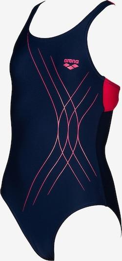 ARENA Badeanzug 'Soul' in nachtblau / pink: Frontalansicht