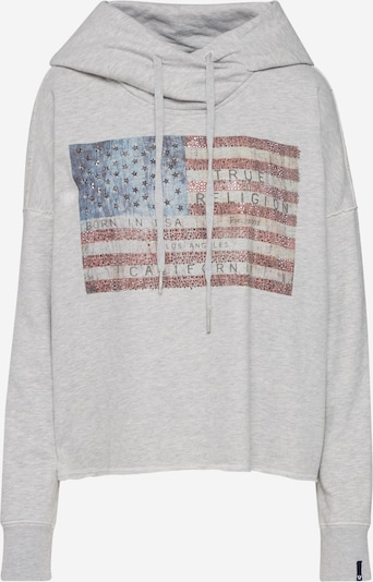 True Religion Sweatshirt 'CROP AMERICAN' in de kleur Grijs, Productweergave