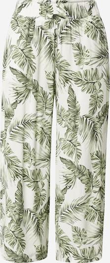 Tally Weijl Püksid roheline / valge, Tootevaade