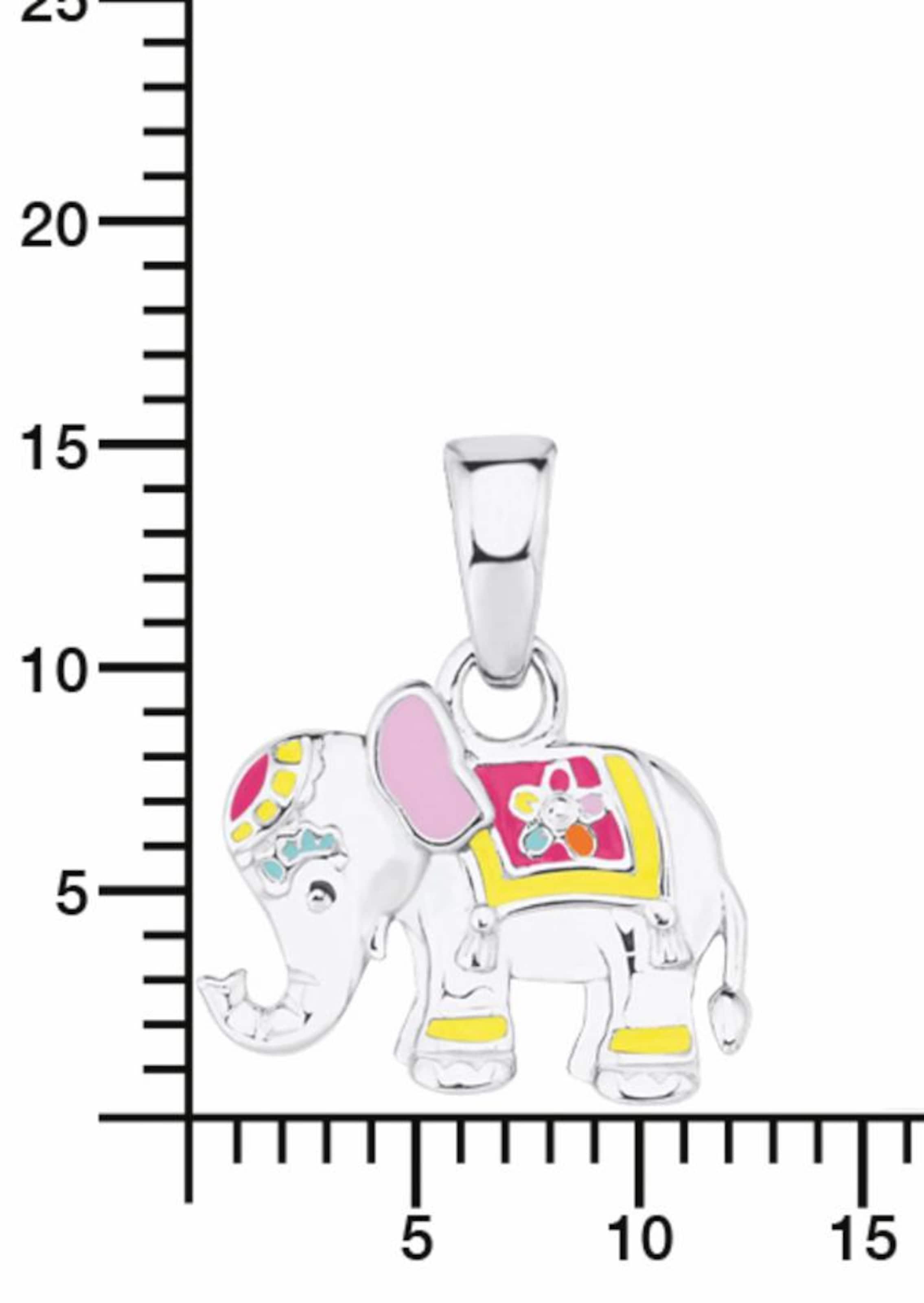 PRINZESSIN LILLIFEE Kette mit Anhänger 'Elefant, Blume, 2019681'