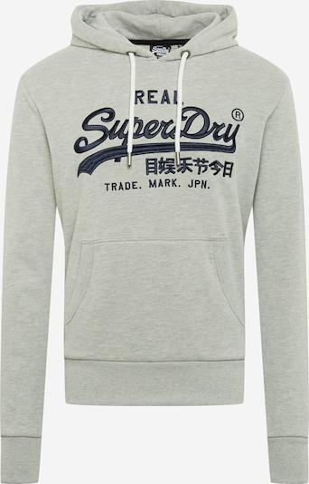 Superdry Sweat-shirt en marine / gris chiné, Vue avec produit