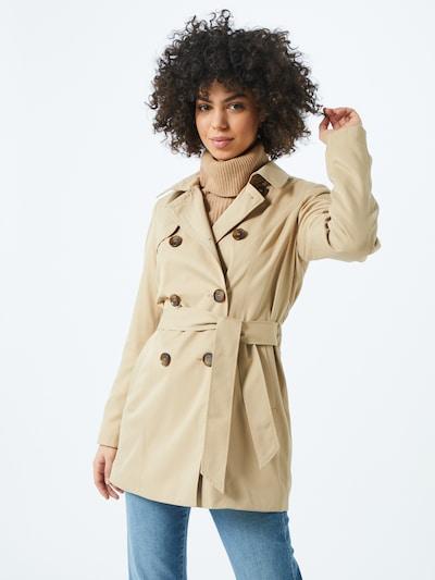 ONLY Manteau mi-saison 'ONLVALERIE' en beige, Vue avec modèle