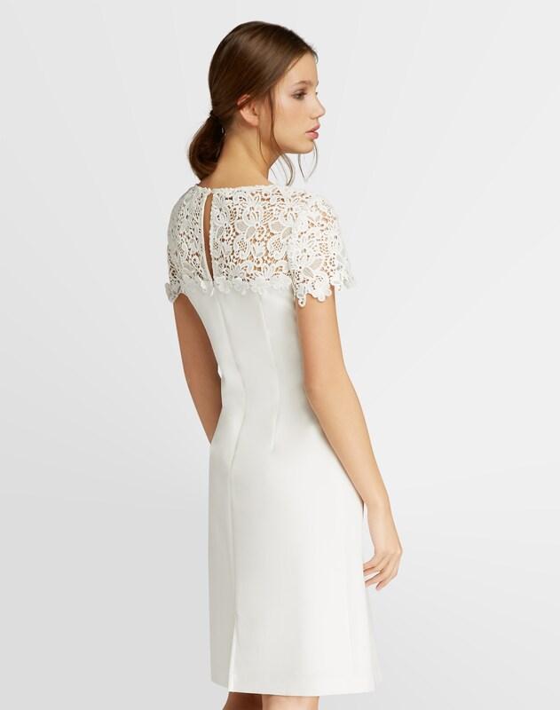 APART Kleid mit transparenter Spitze im Schulterbereich