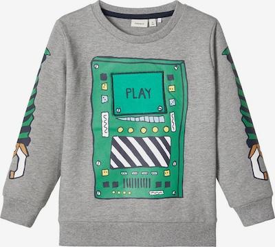 NAME IT Sweatshirt in graumeliert / grün, Produktansicht