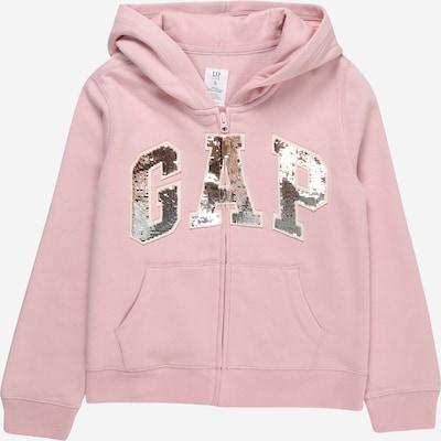 GAP Sweatjacke 'RELAUNCH' in pink / silber, Produktansicht