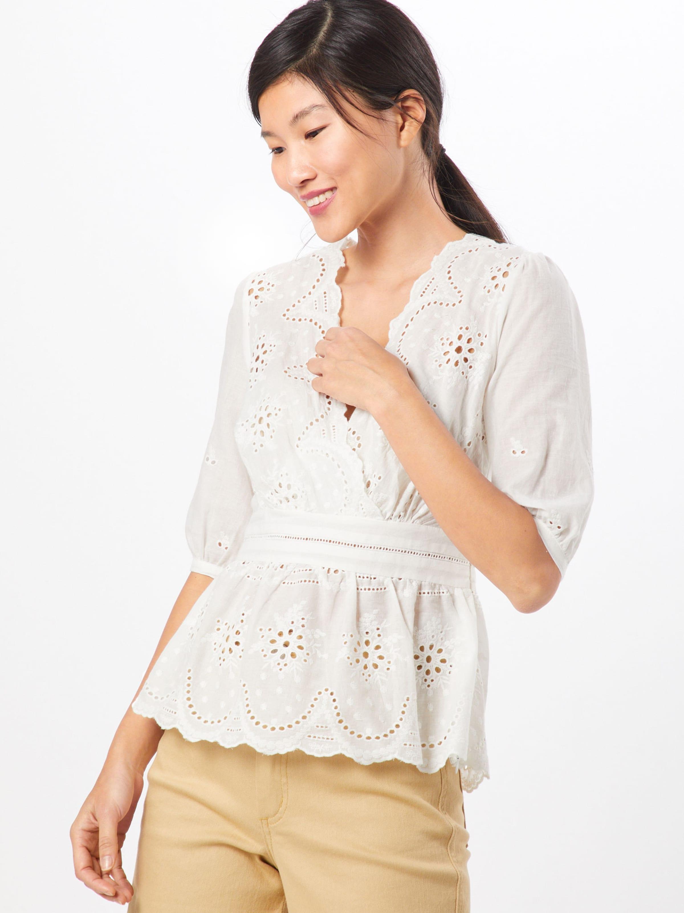 In Weiß Fashion Union Bluse 'rose' NnOPX8w0k