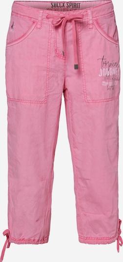 Soccx Skater Bermuda mit Label Print in rosa: Frontalansicht