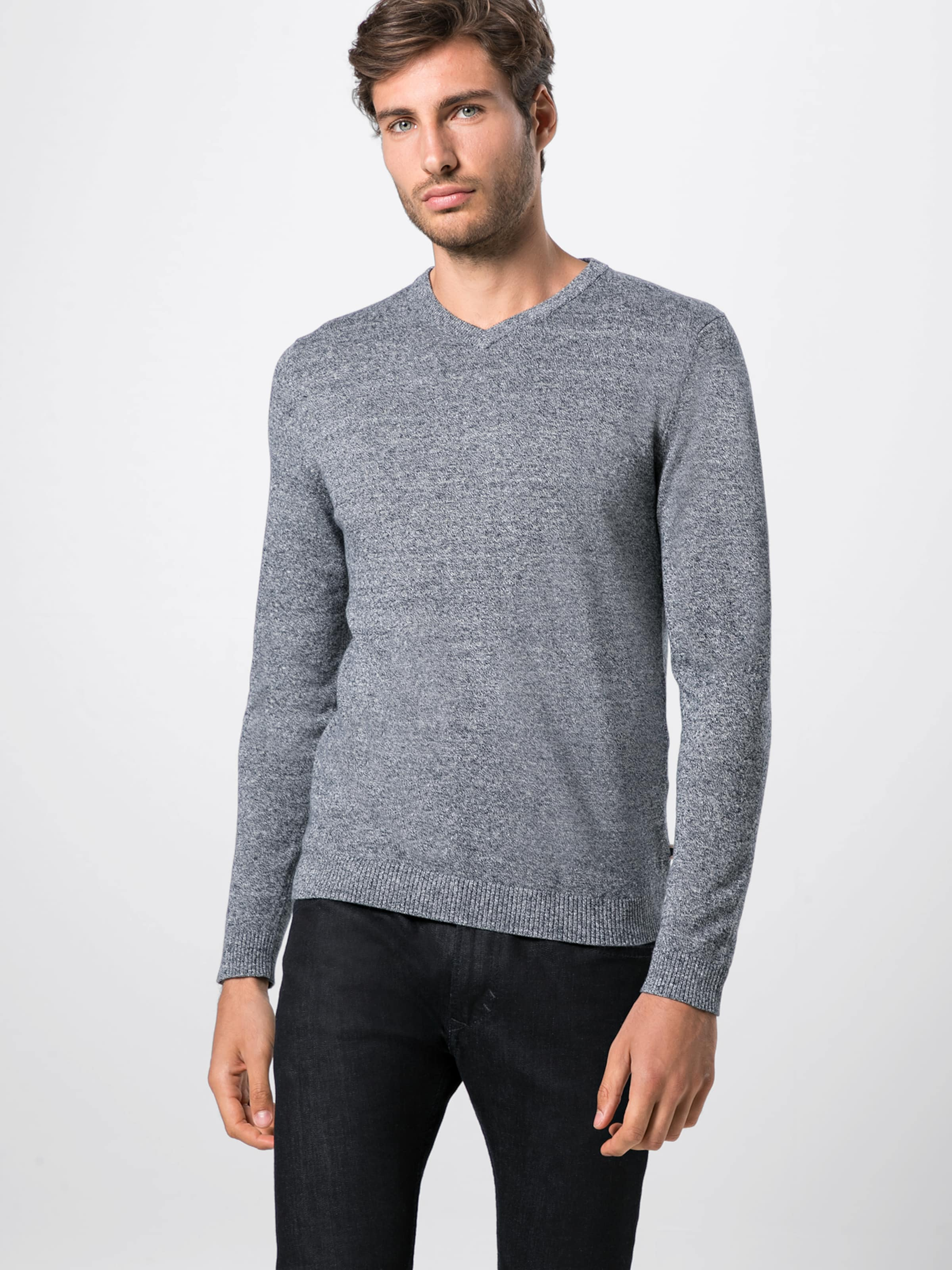 Pull Knit V En Jones neck' Jackamp; over Gris Chiné 'jjebasic PO8XnN0wkZ