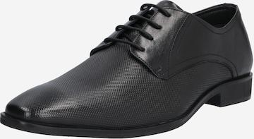 ABOUT YOU Fűzős cipő 'Bastian' - fekete
