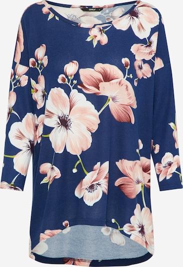 ONLY T-Krekls 'ELCOS' genciāna / olīvzaļš / rožkrāsas / balts, Preces skats