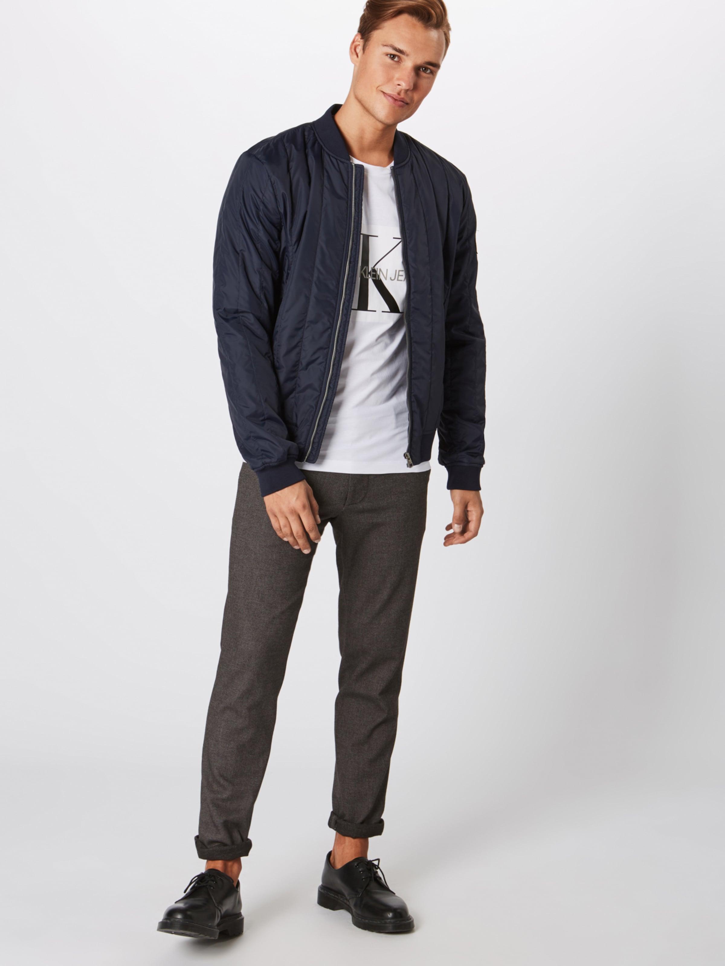 Weiß In Calvin 'core Jeans Klein Monogram shirt Logo Slim Tee' Box T HellgrauSchwarz 9IHEDYW2