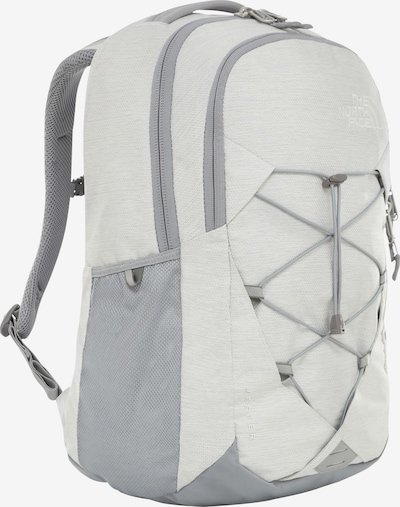 THE NORTH FACE Rucksack 'Jerster' in grau / weiß, Produktansicht