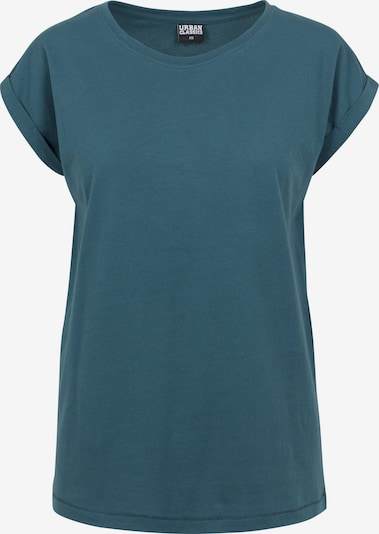 Urban Classics Curvy Shirt  'Ladies Extended Shoulder Tee' in petrol, Produktansicht