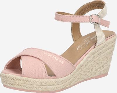 Sandale cu baretă TOM TAILOR pe bej / roze, Vizualizare produs