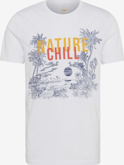 Mavi Shirt 'Nature Chill' in gelb / orange / schwarz / weiß, Produktansicht