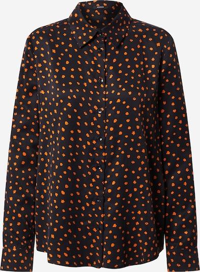 DENHAM Blouse 'JESSIE' in de kleur Sinaasappel / Zwart, Productweergave