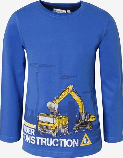 SALT AND PEPPER Langarmshirt , Bagger in blau, Produktansicht