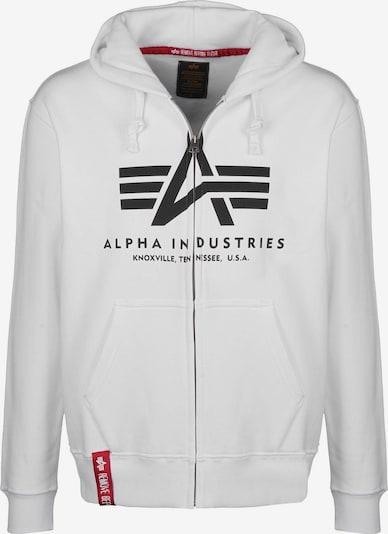 ALPHA INDUSTRIES Hoodie ' Basic Zip ' in schwarz / weiß, Produktansicht