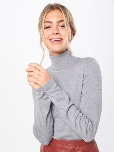 ICHI Rollkragenpullover 'MAFA' in grau, Modelansicht