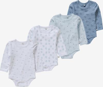 Pippi Langarmbodys in blau / weiß, Produktansicht