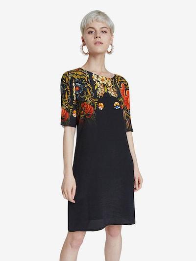 Desigual Kleid 'Vest Butterflower' in mischfarben / schwarz, Modelansicht