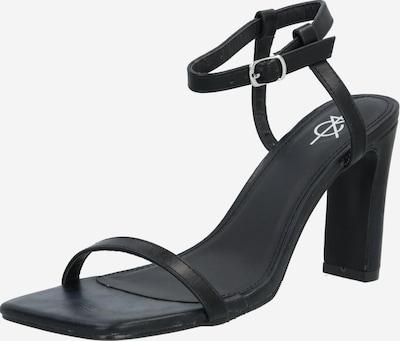 4th & Reckless Sandały z rzemykami 'Megan' w kolorze czarnym: Widok z przodu