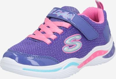 SKECHERS Baskets 'Power' en bleu / violet / rose, Vue avec produit