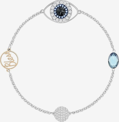 Swarovski Armband 'Remix Strand Eye 5365749' in nachtblau / hellblau / goldgelb / silber, Produktansicht