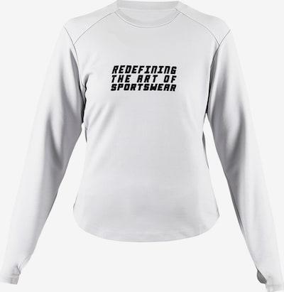 MOROTAI Sweatshirt 'Active Dry' in hellgrau / schwarz, Produktansicht