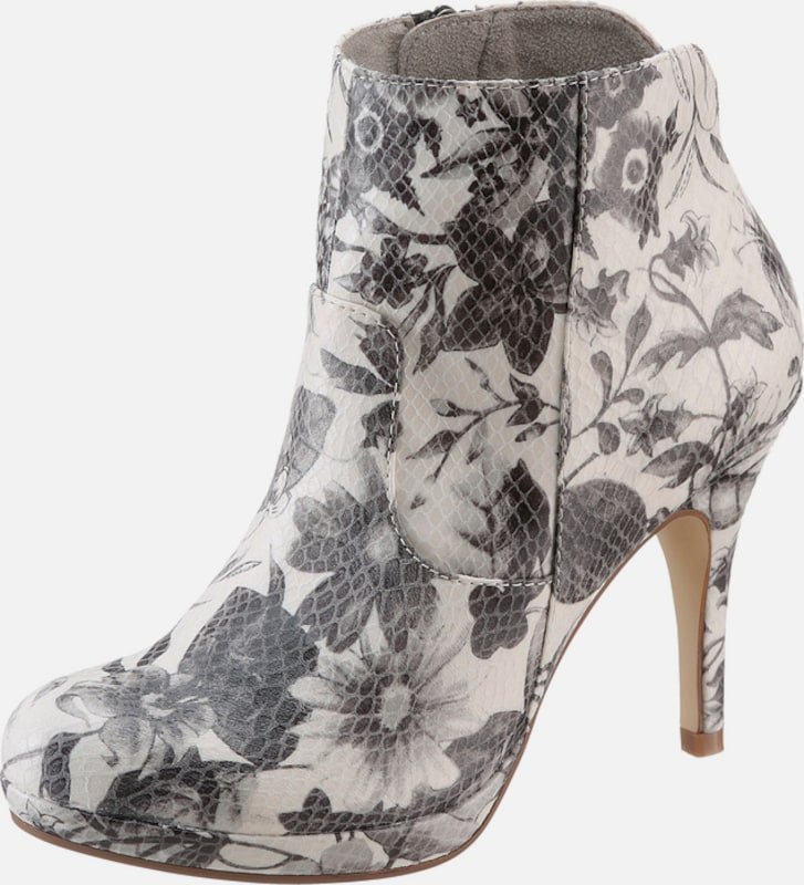 Tamaris High Heel Ankle Boot With Plateau