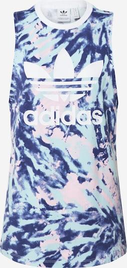 ADIDAS ORIGINALS Top in indigo / hellblau / pink / weiß, Produktansicht