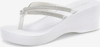 LASCANA Zehentrenner in silber / weiß, Produktansicht