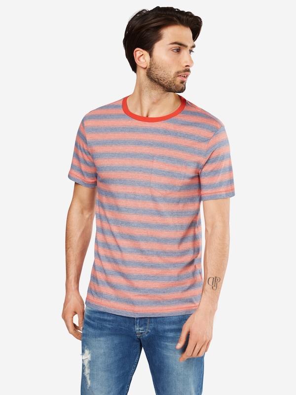 GAP T-Shirt 'SS ESSENTIAL PKT CREW STRIPE - FEEDER'