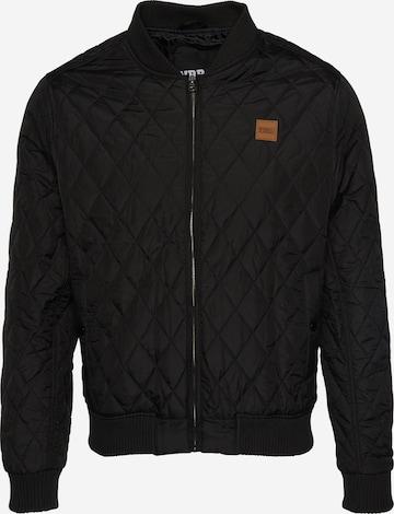 Urban Classics Between-season jacket 'Diamond Quilt' in Black