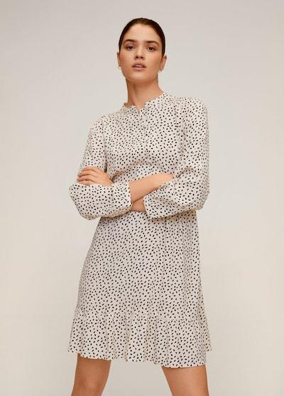 MANGO Kleid 'luni' in schwarz / weißmeliert, Modelansicht