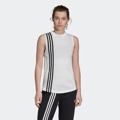 ADIDAS PERFORMANCE Sporttop 'Must Haves' in de kleur Zwart / Wit: Vooraanzicht