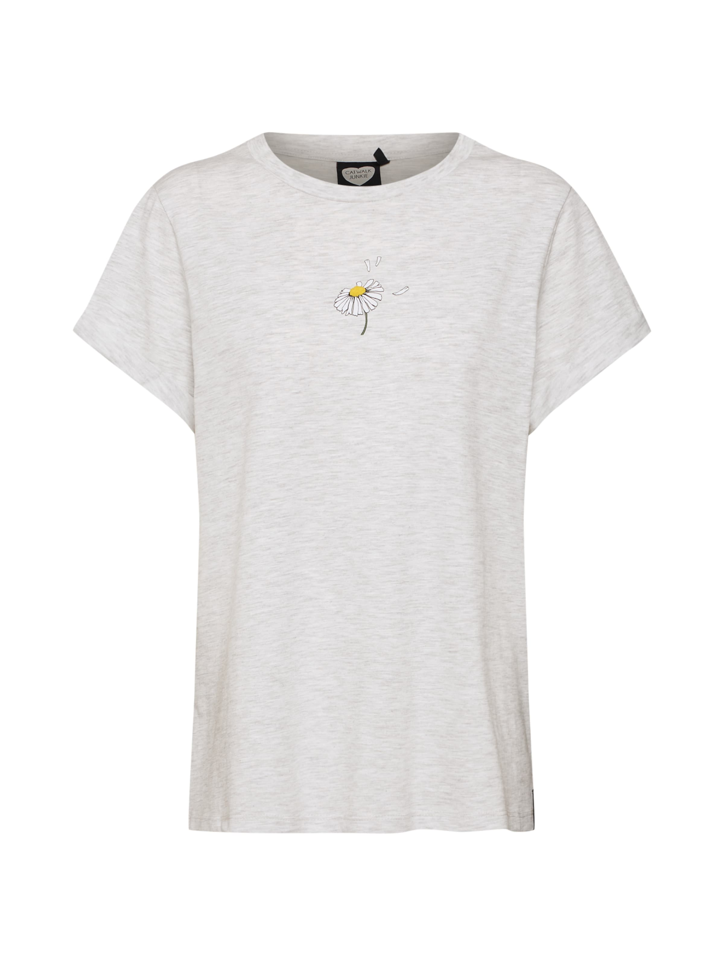 T Chiné Flower' Gris Daisy shirt 'ts En Catwalk Junkie PkiuTOXZ