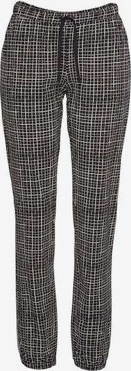 LASCANA Pyjamahose in beige / schwarz, Produktansicht