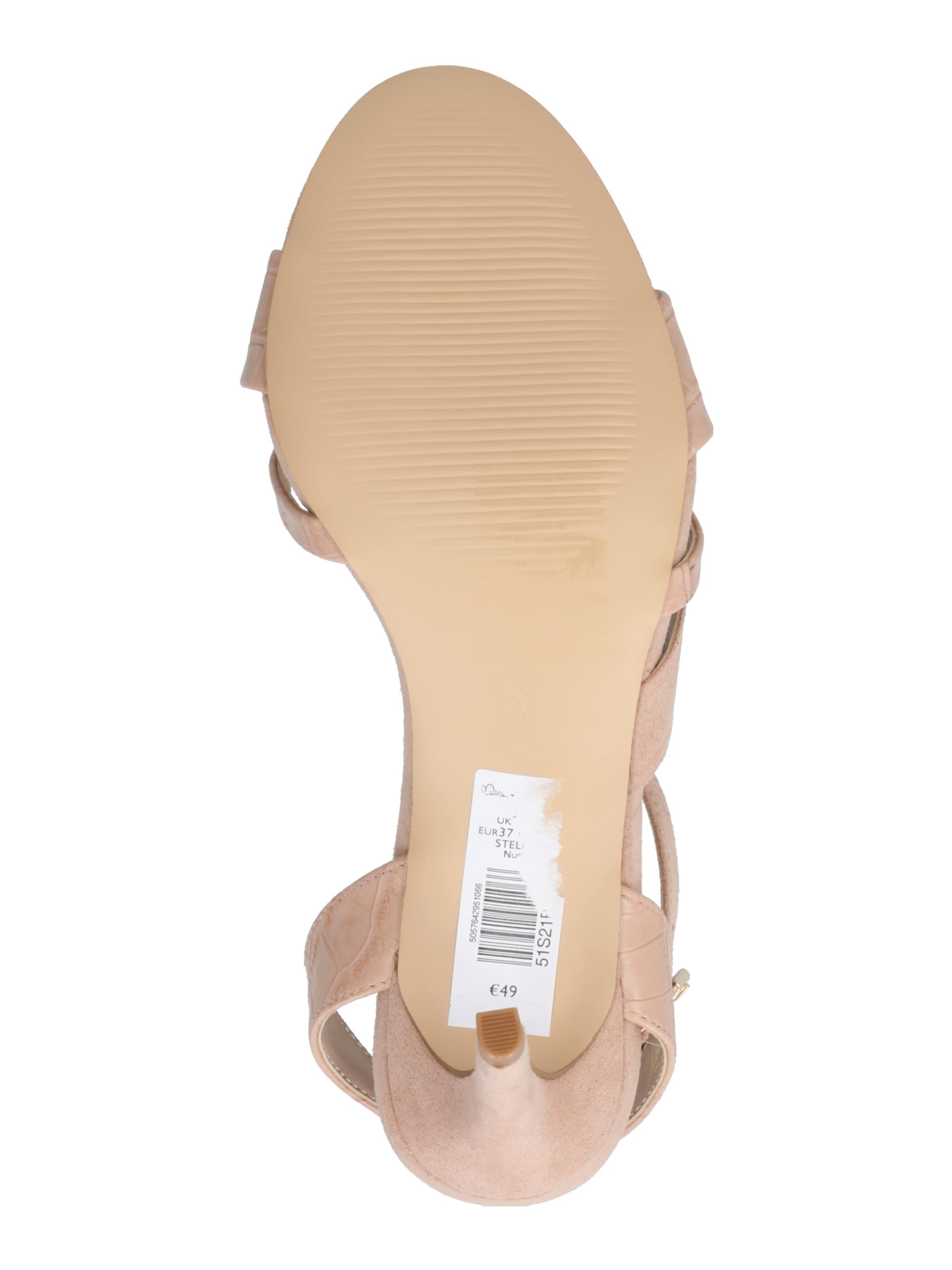 Miss Selfridge Sandale 'Crossover Sandals' in nude