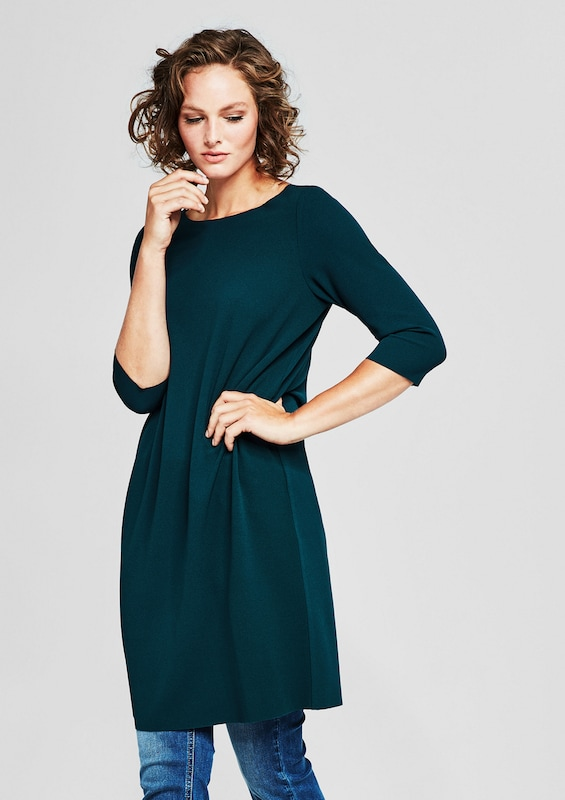 TRIANGLE Pures Kleid aus Double-Face-Jersey