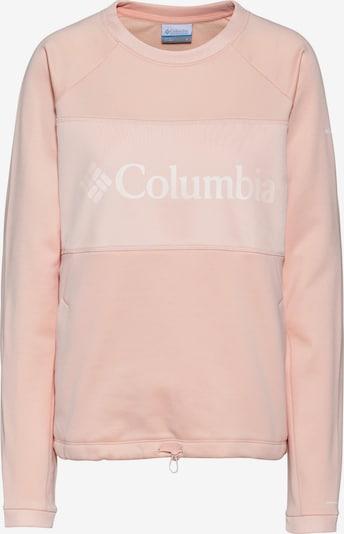 COLUMBIA Sportief sweatshirt in de kleur Rosa / Wit, Productweergave