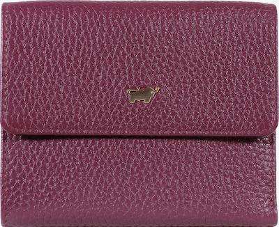 Braun Büffel Lederbörse ASTI aus genarbtem Rindsleder in rot, Produktansicht