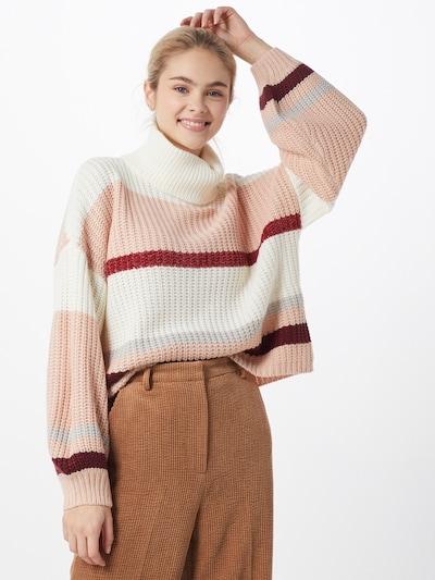 Missguided Pullover in beige / elfenbein / beere: Frontalansicht