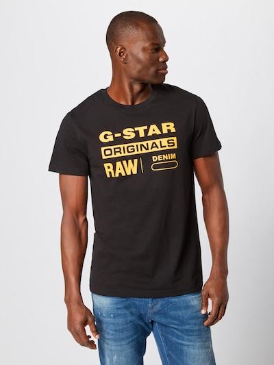G-Star RAW T-Shirt 'Graphic 8' en jaune / noir: Vue de face