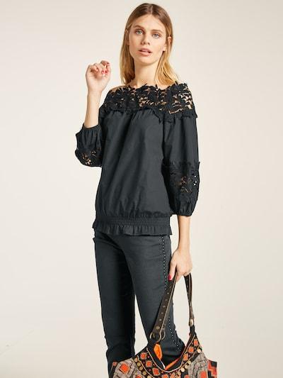 heine Bluse in schwarz, Modelansicht