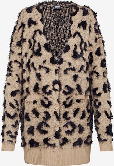 Urban Classics Strickjacke 'Ladies Leo Cardigan' in beige / schwarz, Produktansicht