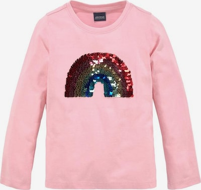 ARIZONA Shirt 'Regenbogen' in rosa, Produktansicht