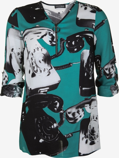 Doris Streich Tunika mit Allover-Print in smaragd, Produktansicht