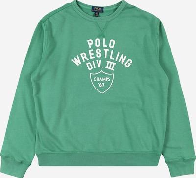 POLO RALPH LAUREN Sweatshirt in de kleur Jade groen / Wit, Productweergave